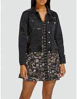 Missguided Sequinned denim jacket