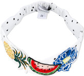 Dolce & Gabbana fruit print headband - kids - Cotton/Spandex/Elastane - One Size