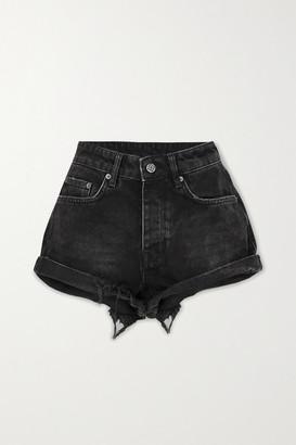 Ksubi Rolling Out Distressed Denim Shorts - Black
