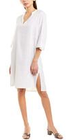 Vince Seamed Popover Linen-Blend Shift Dress