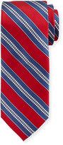 Neiman Marcus Boxed Striped Silk Tie, Red