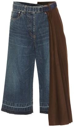 Sacai High-rise cropped jeans