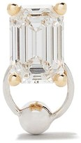 Delfina Delettrez Diamond Foundry x Dover Street Market 18kt white and 18kt yellow gold Piercing Stud earring