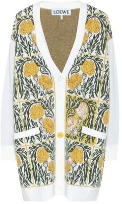 Loewe Floral wool-blend cardigan