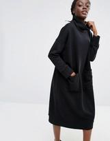 Monki Turtleneck Sweat Sweater Dress