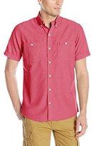 Izod Men's Short Sleeve Sandy Bay Solid Seersucker Shirt