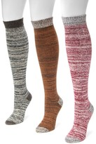 Muk Luks Microfiber Knee High Socks - Pack of 3