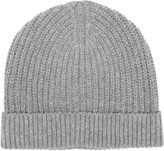 Reiss Reiss Milton - Ribbed Beanie Hat In Grey