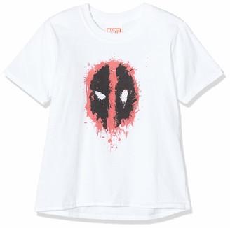 Marvel Girl's Deadpool Splat Face T-Shirt