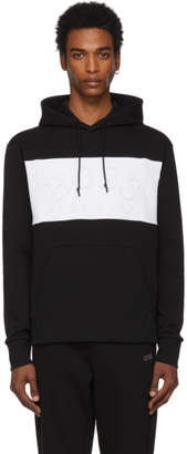 BOSS Black and White Curved Logo Hoodie