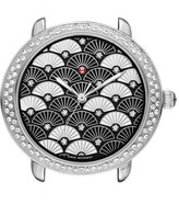 Michele Women's Serein 16 Diamond Diamond Fan Mosaic Watch Case, 34Mm X 36Mm