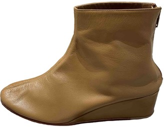 Martiniano Camel Leather Ankle boots