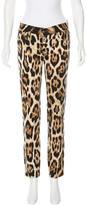 Just Cavalli Leopard Print Skinny Jeans