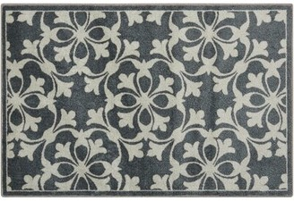 Waverly Great Expectation Gray Area Rug Rug Size: Rectangle 2' x 3'