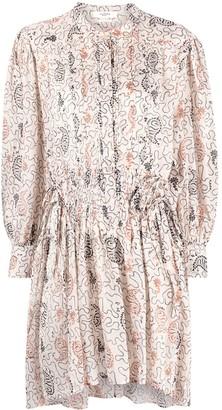 Etoile Isabel Marant Abstract-Print Shirt Dress