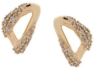 Astley Clarke 14kt yellow gold Vela diamond stud earrings