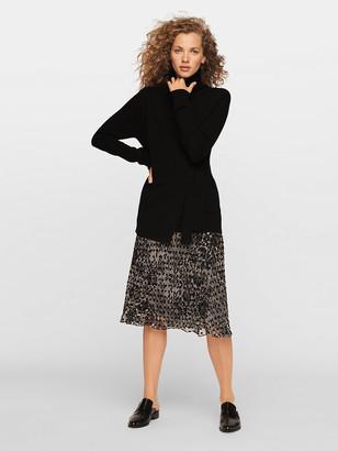 Diane von Furstenberg Molly Velvet Burnout Midi Skirt