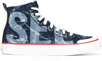 Diesel denim style hi-top sneakers