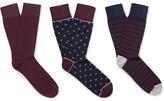 Corgi Three-pack Cotton-blend Socks - Navy