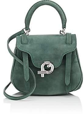 Fontana Milano Women's Mimosa Mini Suede Crossbody Bag - Green