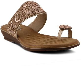 Spring Step Patrizia by Toe Loop Slide Sandals- Monalisa