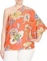 Lauren Ralph Lauren Plus Floral Crepe One-Shoulder Top