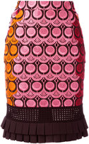 Capucci embroidered skirt - women - Cotton/Polyester - 40
