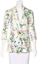 Marissa Webb Floral Print Notch-Lapel Blazer