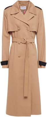 Claudie Pierlot Double-breasted Gabardine Trench Coat