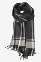 Toast Wide Stripe Wool Scarf