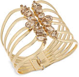 Thalia Sodi Gold-Tone Yellow Crystal Hinged Cuff Bracelet, Created for Macy's