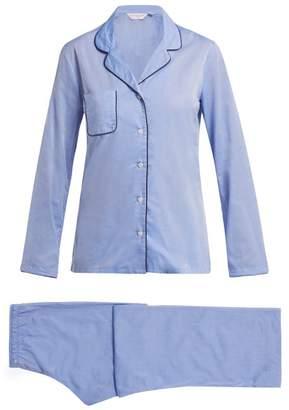 Derek Rose Amalfi 1 Cotton Pyjamas - Womens - Light Blue