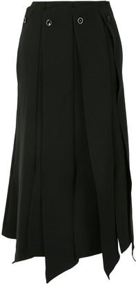 AKIRA NAKA Pleated Midi Skirt