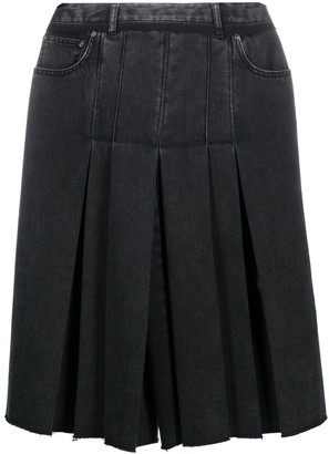 Maison Margiela Pleated Denim Culottes