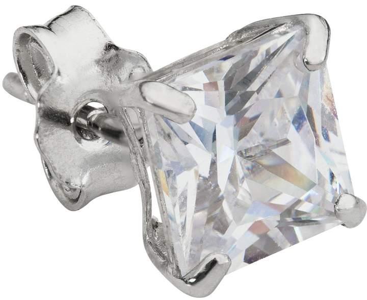 b0504f81a8e8e Men's 9ct White Gold Cubic Zirconia Stud Earring