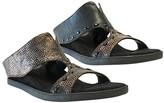 Asta Modzori Women's Sandals 1 - Black & Bronze Reversible Wedge - Women