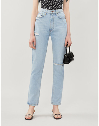 Reformation Stevie high-rise straight jeans
