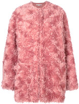 Stella McCartney fur coat - women - Cotton/Viscose/Mohair/Wool - 36