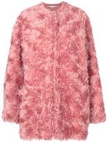 Stella McCartney fur coat - women - Cotton/Viscose/Mohair/Wool - 36