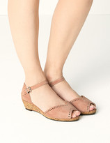Marks and Spencer Wide Fit Suede Wedge Heel Sandals