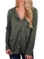 Kirundo KIRUNDO Women's Zipper Sweatshirt Jacket with Hood Long Sleeves Full Length Zip Front Pockets Coat (Small