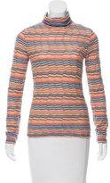 M Missoni Striped Turtleneck Sweater