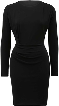 Forever New Cara Draped Mini Dress - Black - 10
