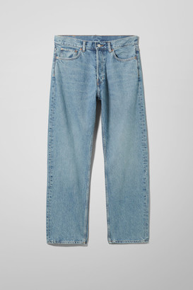 Weekday Space Relaxed Straight Jeans - Blue