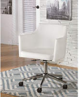 White Baraga Swivel Office Chair