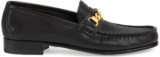 Gucci Chain-Detail Leather Loafers