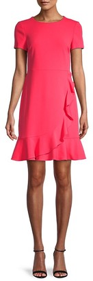 Karl Lagerfeld Paris Ruffle Short-Sleeve A-Line Dress