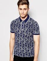 Original Penguin Patterned Pique Polo Shirt - Blue