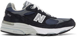 New Balance Navy and Grey Made In US 993 Sneakers