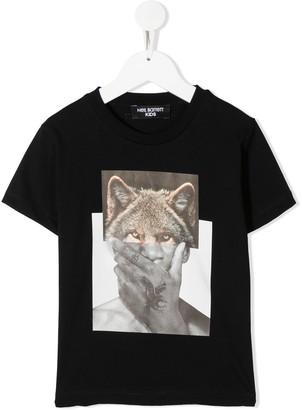 Neil Barrett Kids Wolf-Man print T-shirt
